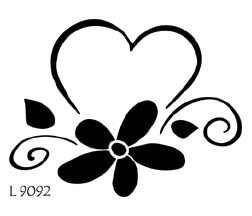 L9092 - Heart with flower