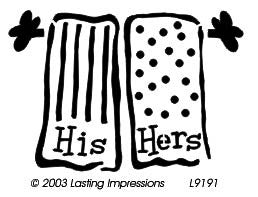 L9191  - His & Her Towels