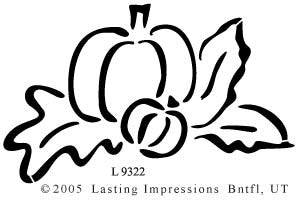 L9322 - PUMPKIN W/LEAVES