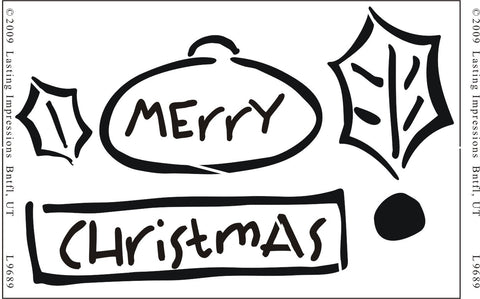 L9689 - MERRY CHRISTMAS TAGS