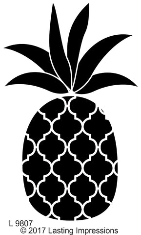 *****L9807 - Pineapple Quatrefoil