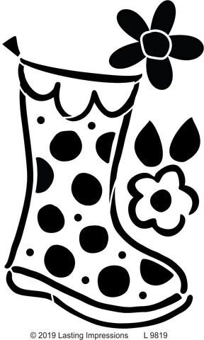 ***L9819 - Polka Dot Large Rain Boot
