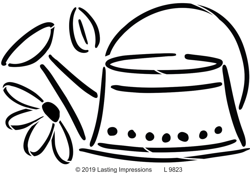 L9823- Watering Can with Flower