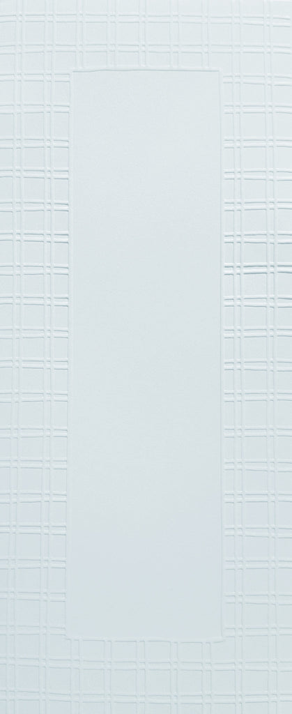 Lengthy Notes - Plaid White Notecards