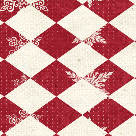 *LBR - Ladybug Red Argyle 8 1/2 x 11 - One Sheet
