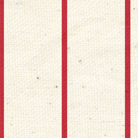 *LBR - Ladybug Red Linen Vintage Stripes 8 1/2 x 11 - One Sheet