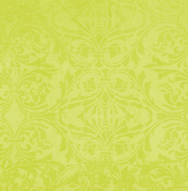 *LFDM8 - Lime Fizz Damask 8 1/2 x 11 - One Sheet