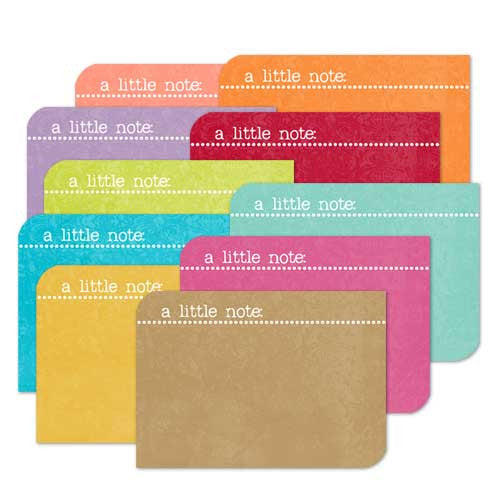 *FNCLN - Flat Note Cards A Little Note - 10 card pack