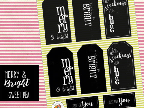 ****Merry & Bright Tags - Sweet Pea