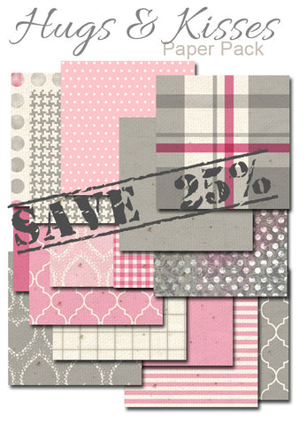 2016 Hugs and Kisses Half-Sheet Paper Collection 5 1/2 x 8 1/2