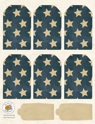 *******Old Glory Stars Tag Sheet