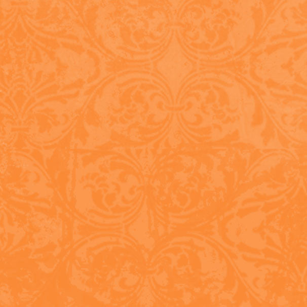 *OFDM8 - Orange Fizz Damask 8 1/2 x 11 - One Sheet