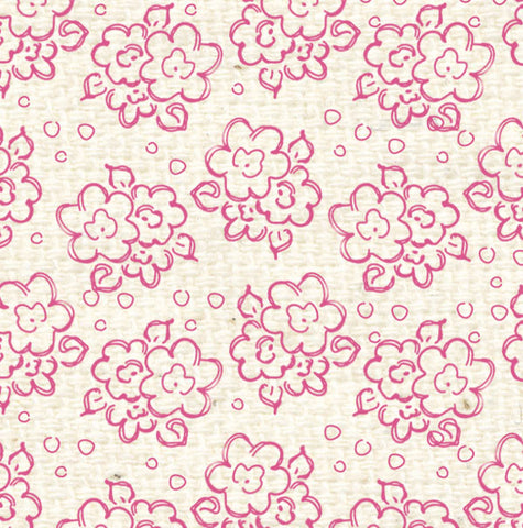 *PCDF8 Pink Cosmos Doodle Flowers Paper  8 1/2