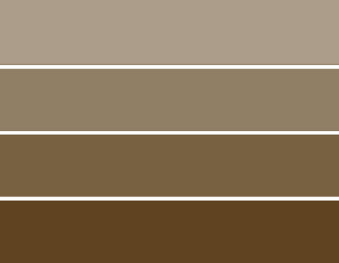 PCCMPB - Paint Chip Cards Mud Pie Brown - 10 card pack