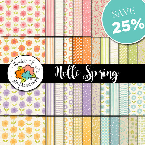 *****Hello Spring Paper Collection 8 1/2 x 11