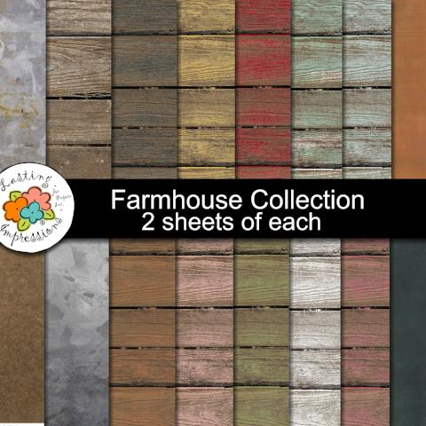 ***Farmhouse Paper Collection  8 1/2 x 11