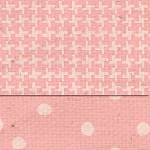 ***Pink Geranium Martha Dots & Tweed Double Sided Cardstock