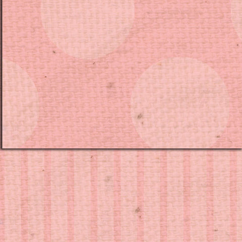 ***Pink Geranium Dots & Stripes Double Sided Cardstock