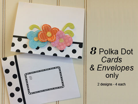 Polka Dot Notes & Envelopes Only