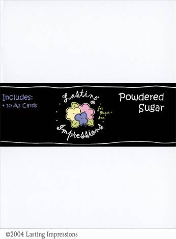 A2 Scored Card - Powdered Sugar