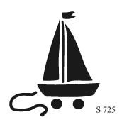 S725 - Pull Toy/Sail Boat