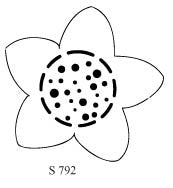 S792 - Flower with Dot Center