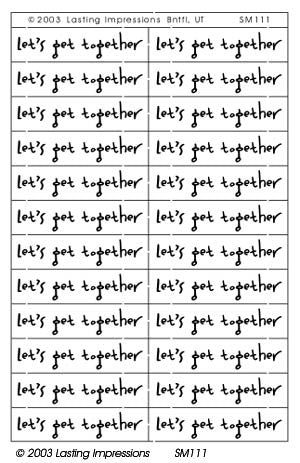 SM111 Silver - Let's Get Together