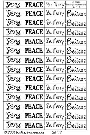 SM117 Silver - Joy/Peace/Be Merry/Believe