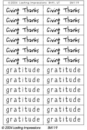 SM119 Brass - Giving Thanks/Gratitude