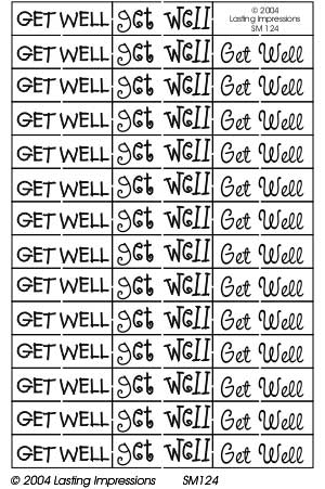 SM124 Silver - Get Well