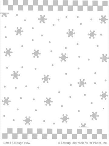 PreEmbossed Snowflake White 8 1/2 x11 - 5 Sheets