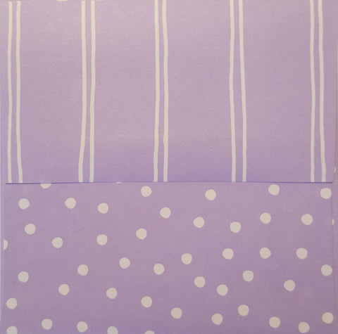 Simply Square Lilac Envelopes