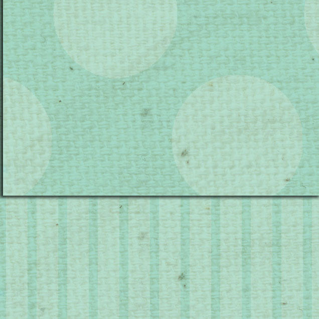 *DSSFDS Sea Foam Dots & Stripes Double Sided Cardstock