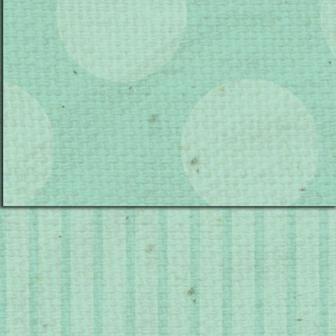 ***Sea Foam Dots & Stripes Double Sided Cardstock