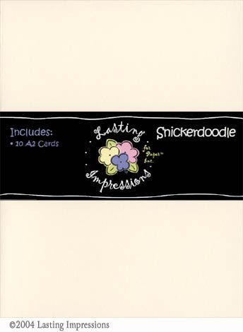A2 Scored Card - Snickerdoodle