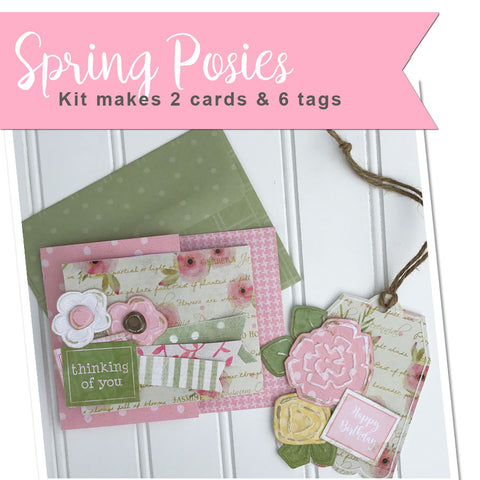 *****Spring Posies Handmade Card & Tag Kit