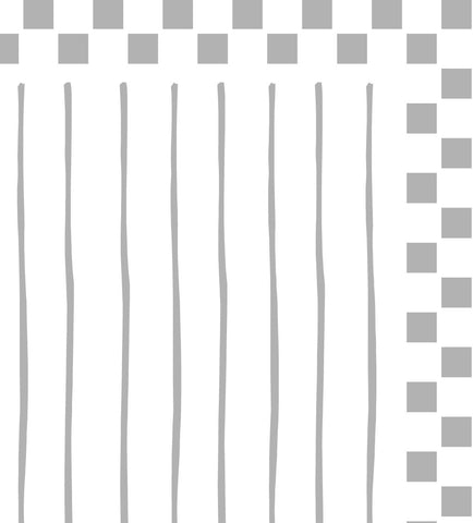 PreEmbossed Square with Stripes Cream 8 1/2 x11 - 5 Sheets