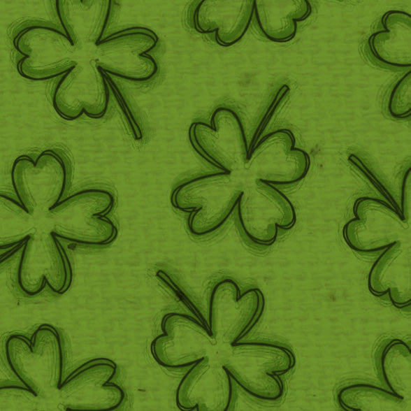*****ESH - Emerald Shamrocks Paper  8 1/2 x 11