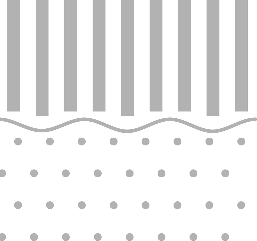 PreEmbossed Stripes w/ Dots Cream 12x12 - 4 Sheets
