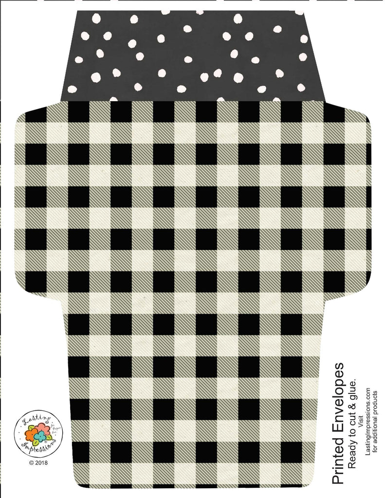 ********A2 Envelopes DIY Buffalo Plaid and Wildflowers