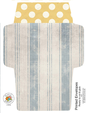 ********A2 Envelopes DIY Blue Tea Towel & Yellow Daisies