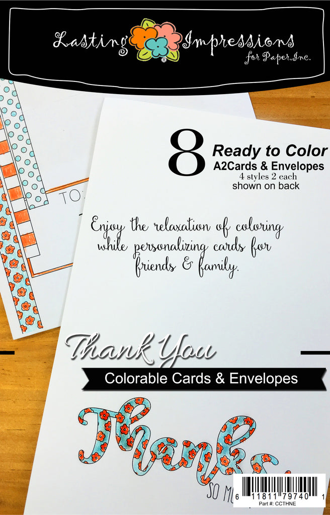 **Thanks So Much - Cards & Envelopes for Coloring