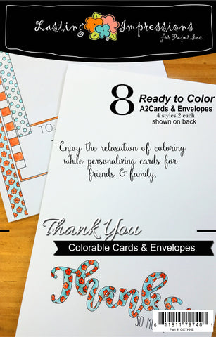 Thanks So Much - Cards & Envelopes for Coloring