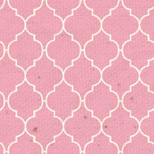 *HK - Pink Quatrefoil 8 1/2 x 11 - One Sheet