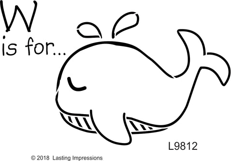 ******L9812 - W Is For . . . Whale