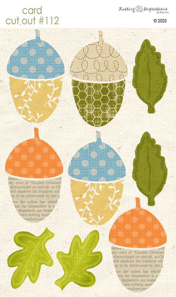 ********CCO112 - Card Cut Out #112 - Largel Acorns & Leaves