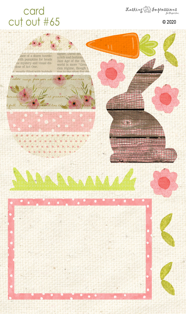 *******CCO65 - Card Cut Out #65 - Pink Chocolate Bunny