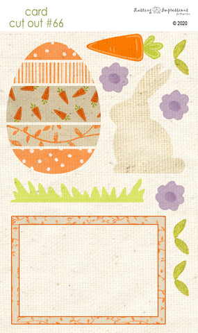 *******CCO66 - Card Cut Out #66 - White Chocolate Bunny