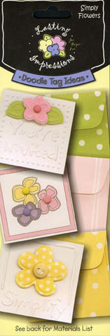 *Doodle Tag Idea - Simply Flowers