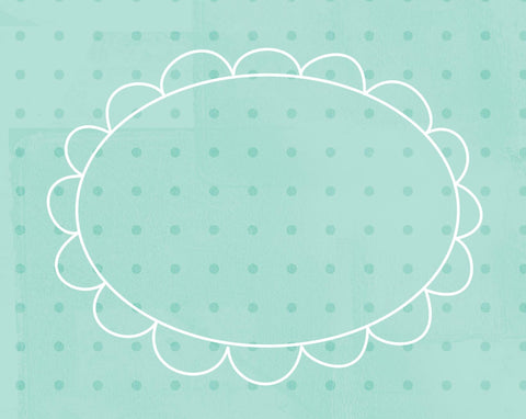*DFCGBA - Doodle Frame Cards Gentle Breeze Aqua - 10 card pack